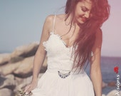 Bohemian Wedding Dress, Off White Wedding Dress, Boho Wedding Dress, Long Wedding Dress, Open Back Wedding Gown, Long Bridal Dress