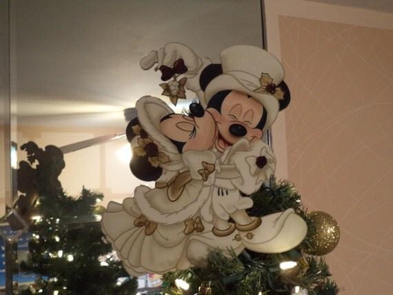 Victorian Mickey & Minnie Tree Topper