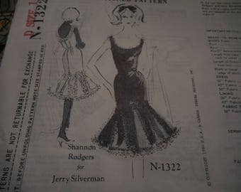 Vintage 1960's Spadea N-1322 Shannon Rodgers for Jerry Silverman Dress Sewing Pattern, Size 12 Bust 35