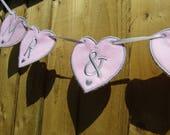 Mr & Mrs - Heart Wedding Bunting - Custom Made - add name details