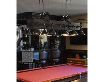 The Yorba Linda - Rustic Industtial style Pool Table Lamp