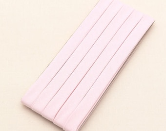 Cotton Candy Series Folded Cotton Bias in Baby Pink - 3 Yards 92886