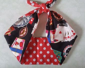 las vegas polka dot gamler 50s style black  rockabilly  bandana,  rockabilly pin up psychobilly  hairband headband