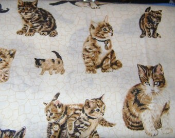 One Yard Scattered Kittens by Makower of England