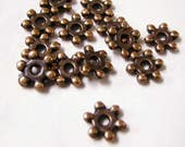 reserved- 50pc 7mm antique copper snow flake bead-4492x10 lots
