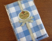 Vintage Pillowcase Pair - Blue Plaid by Dan River - Standard Size 100% Cotton Combed Percale NIP
