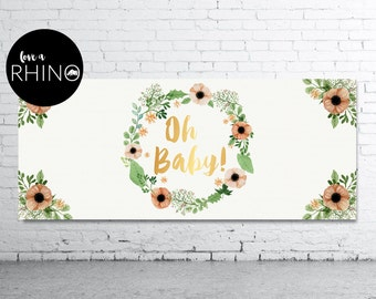 Oh Baby Printable Baby Shower Banner/ Backdrop
