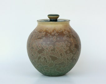 Small Matte Crystalline Cremation Urn
