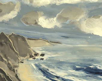 Big Sur, California #1 - Original Acrylic Painting