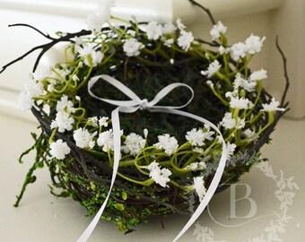 Bird nest ring carrier / Moss ring carrier / Wedding ring carrier / Alternative ring pillow / Wedding ring bearer / Wedding / Decorations