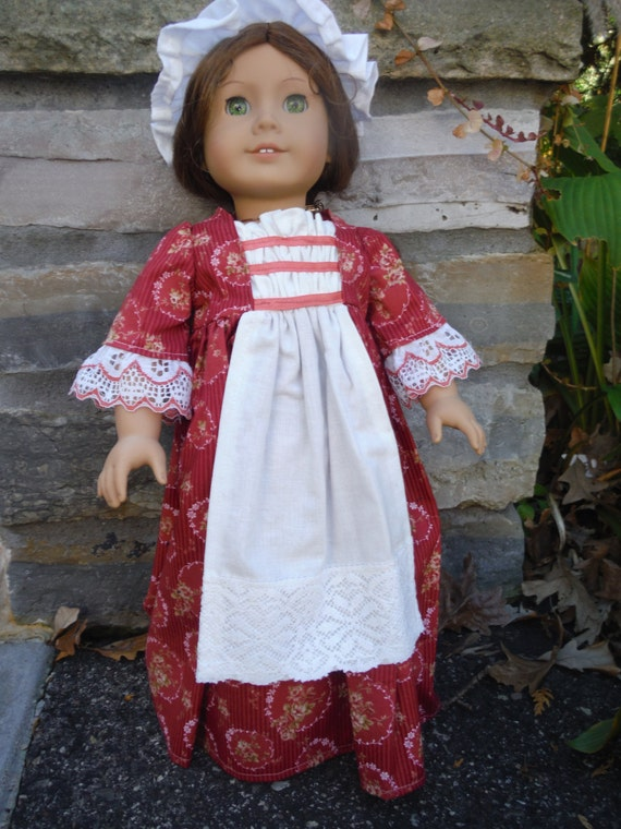 18 Inch American Girl Doll Historical dress perfect for Felicity, Caroline or Elizabeth by Project Funway on Etsy