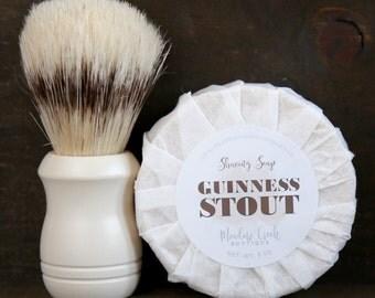 Guinness Stout Shaving Soap - Handmade in Alaska, Goat's Milk Soap, Men's Soap, Gifts for Him, Gifts for Husband, Sensitive Skin