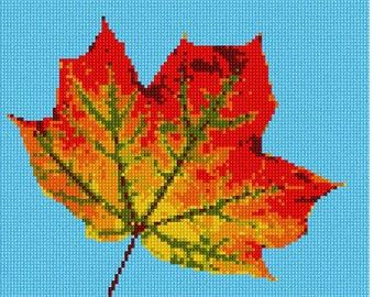 Needlepoint Kit or Canvas: Leaf Up Close