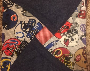 Two NFL Football Handmade Hot Pads