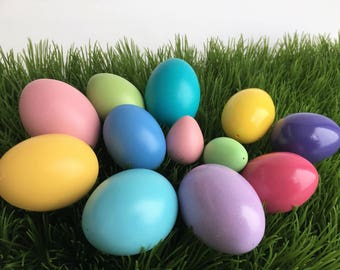 Variety of Real Eggs for Drop Pull and Wax Embossed Pysanky, Hand Painted Colored Eggs, Easter Decoration, Easter Project