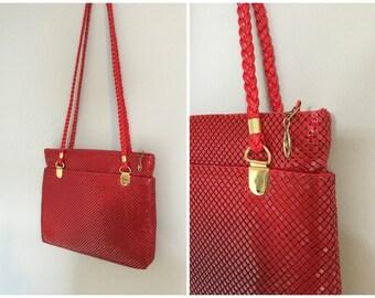 Vintage RED BAG/DISCO Purse