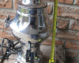 SALE 1930's Circa Electric Ornate Coffee Urn Peculator, Excellent working Condition and appearance, United Co Brooklyn NY