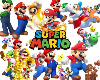 BEST collection of 140 Mario Brothers clipart - 140 high quality MARIO BROS clipart - 140 Mario and Friends Graphics !!