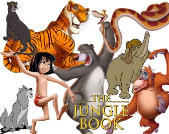 BEST collection of 150 Disney's Jungle Book Clipart - 150 high quality The JUNGLE BOOK clipart - 150 Jungle Book Graphics !!!