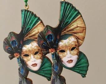 Masquerade Mask Earrings