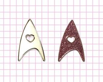 60% off I <3 Star Trek inspired pin Live long and Prosper