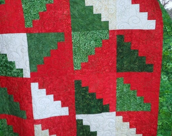 Red and Green Happy Throw