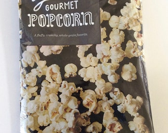 New Small Bag – Gourmet Popcorn Wrapper Upcycled Zippered Bag/Pouch!