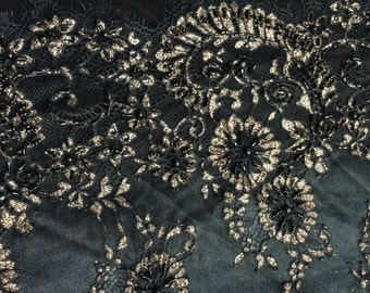 Black Lace Fabric,Lace, beaded fabric