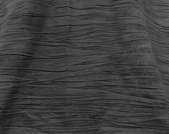 Black Crinkled Stretch Jersey, Black Jersey, Crinkled Fabric, Flowy Material, Table Runner, Remnant Fabric, Stretch Jersey