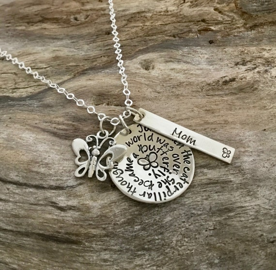 Bereavement jewelry - bereavement necklace - memorial gift - butterfly - loss - memorial jewelry sterling silver