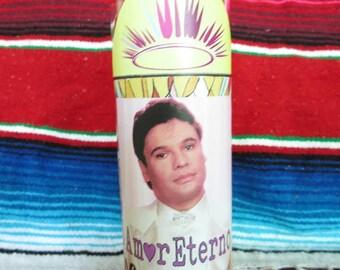 Vela de Juanga JUAN GABRIEL El Divo Veladora White Candle Celebrity Prayer Candle