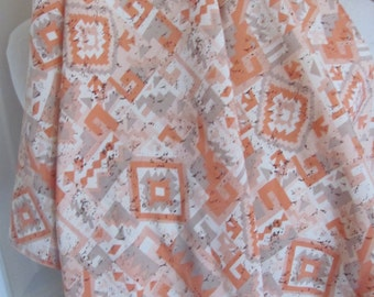 """Scarf Triangle Shape White Orange Silky Scarf 17"""" x 24"""" - Affordable Scarves!!!"""