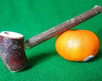 Natural Smoking Pipe, Hobbit pipe, Wooden pipe. Cherry.
