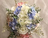 RUSTIC WEDDING Brides Brooch Bouquet, Completed Custom Made for Meg Only