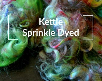 Kettle Sprinkle Dyed - Kettle Dyed Hand painted Spinning Fiber Tutorial