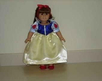 American girl doll snow white dress