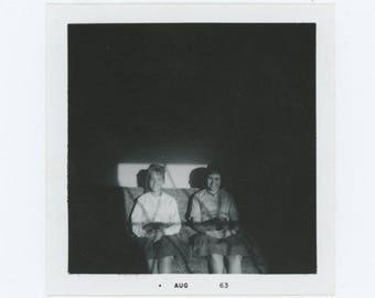 Vintage Snapshot Photo: Girls in Sunlight, 1963 (75581)