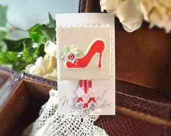 Brooch Red Shoe Pin