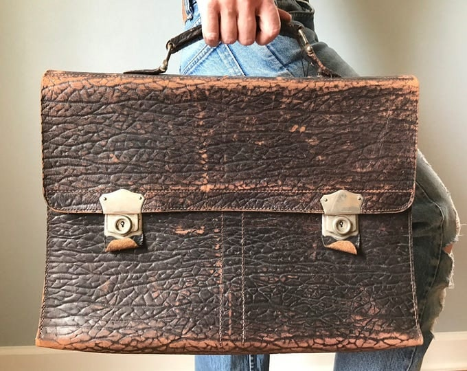 Vintage 50s Leather Breifcase