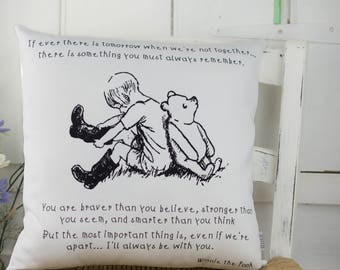 Winnie the Pooh BNW Quote Pillow Classic Winnie the Pooh for Nursery or Gift