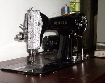 White Electric Sewing Machine 1950s