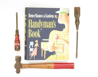 Vintage Handyman's Book - Vintage Better Homes and Gardens Handyman's Book - Vintage Homeowner Book - Vintage Repair Book - New Home Gift
