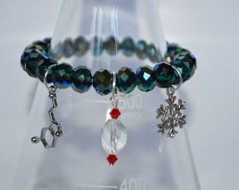 Biolojewelry - Holiday Cheer Serotonin Neurotransmitter Bracelet