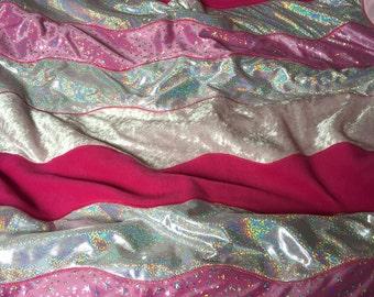 Sparkly pink princess quilt