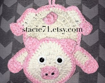 Pig Pot Holder CROCHET PATTERN
