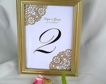 Gold Table Card Frame Table Card Frame Wedding Table Numbers Table Cards Gold Frame Gold Table Card Frames Elegant Reusable Formal Frame
