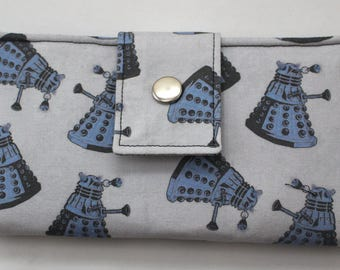 Exterminate Dalek Doctor Who Inspired Handmade Long Wallet