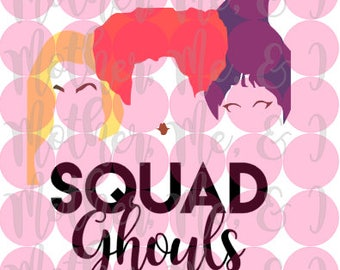 Hocus Pocus Sanderson Sisters Squad Ghouls SVG DXF PNG Cut File Instant Download Cricut and Silhouette Design for Shirts, Scrapbooks Disney