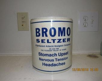 1960's Bromo Seltzer Emerson Drug Co Baltimore, MD Cobalt Blue Druggist Pharmacy  Medicine House Planter