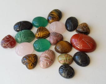 Mixed lot of genuine Scarab Cabochons Cab Stones